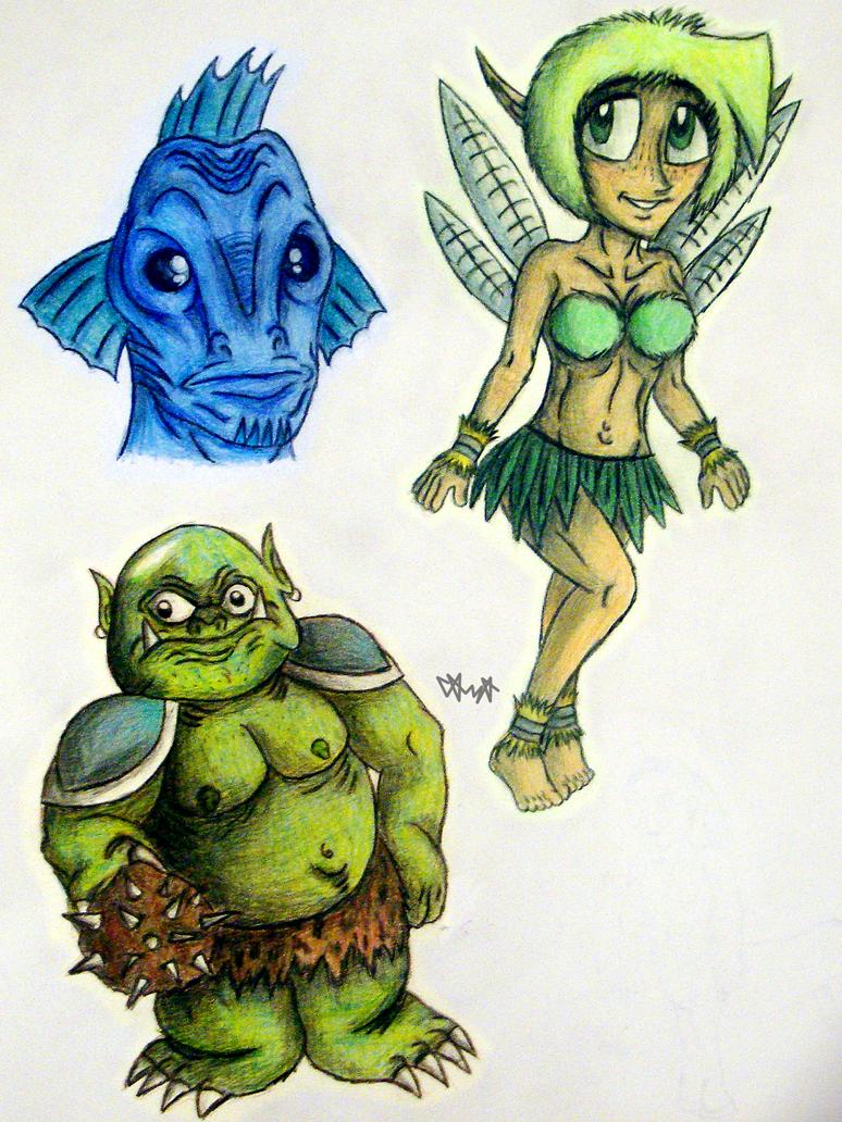 Fantasy characters 01 by gagaman92