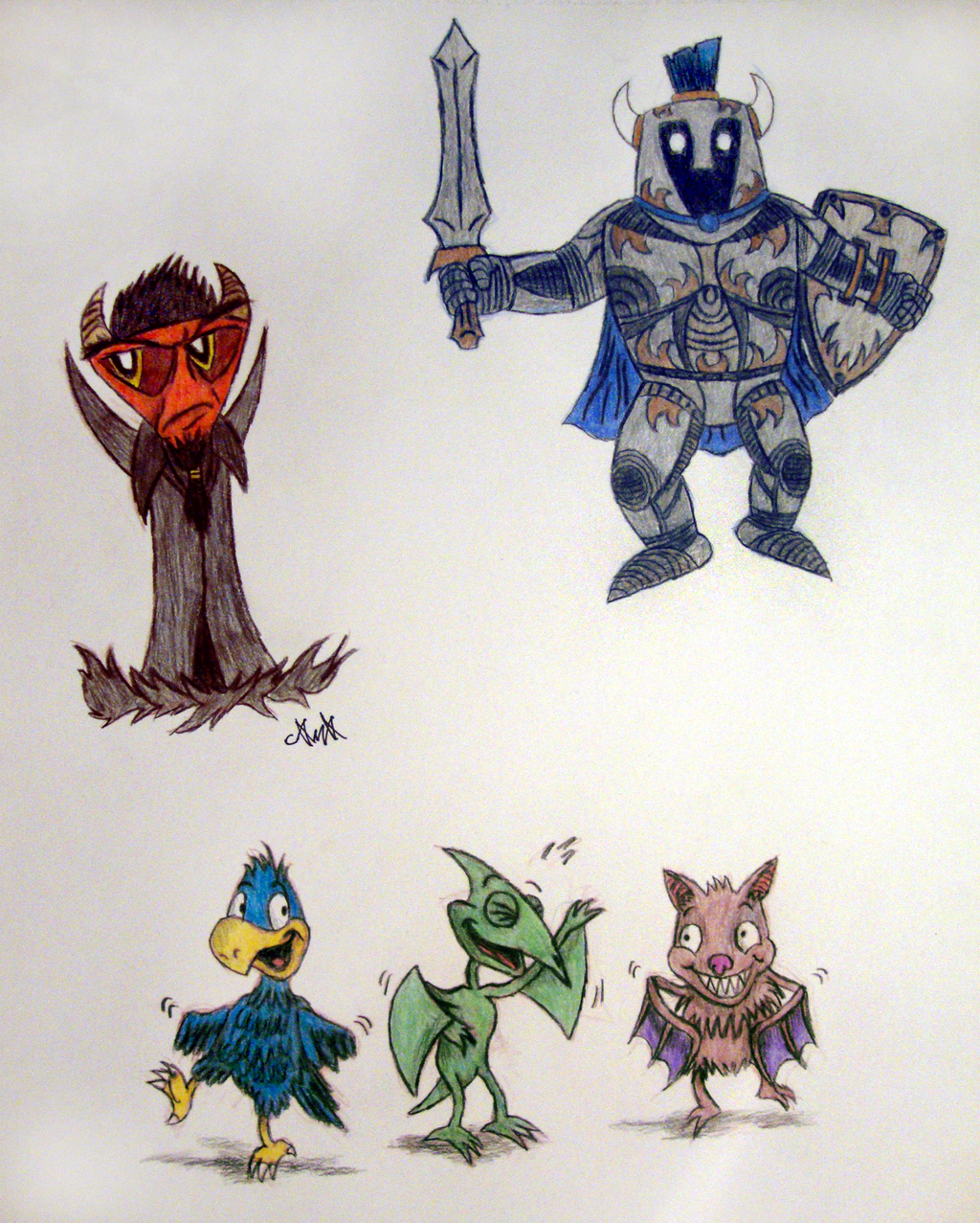 Fantasy characters 02 by gagaman92