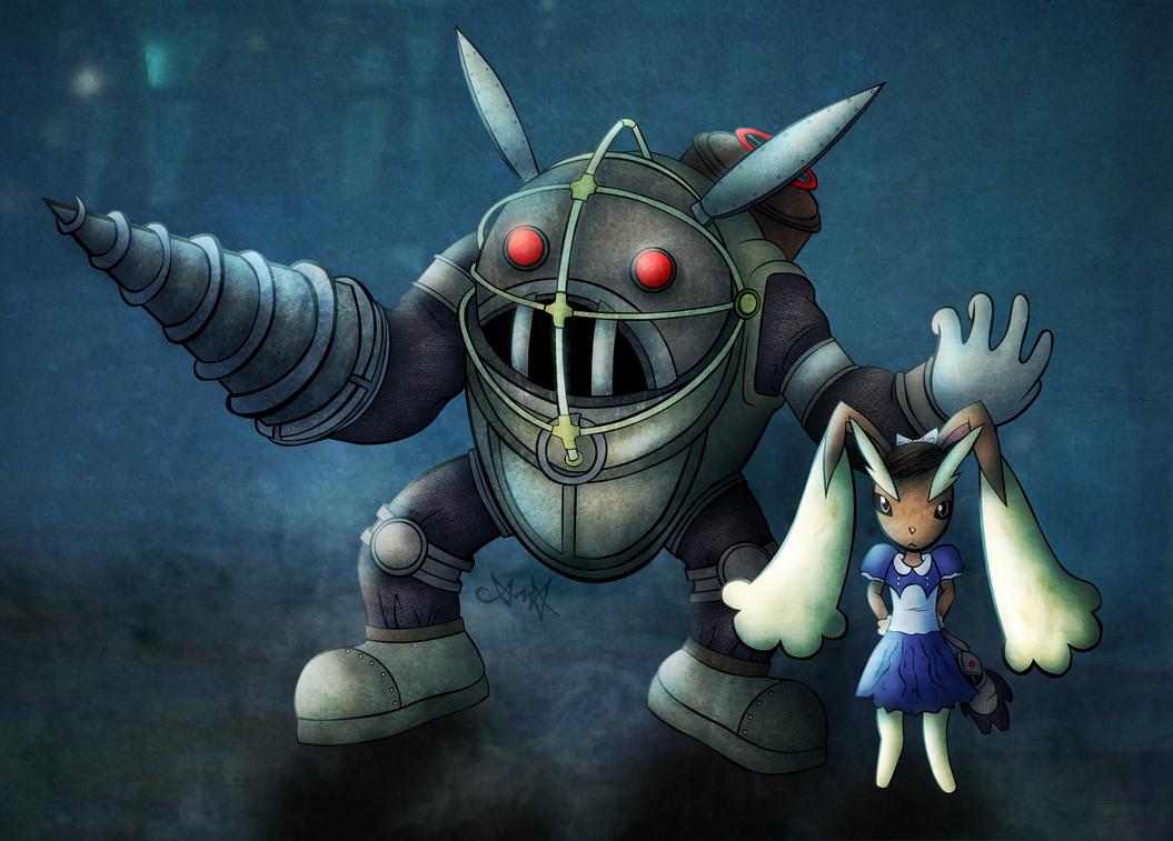 Big Bunny and Lopunny Sister by gagaman92