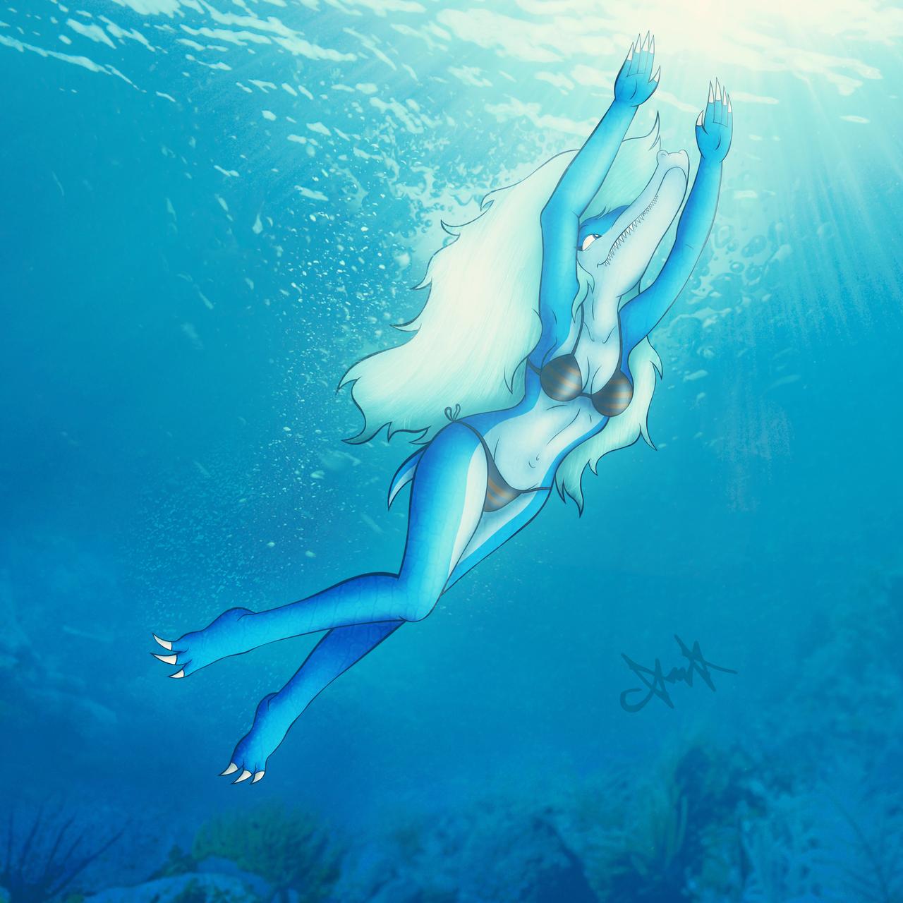 Kazumi Swimming by gagaman92