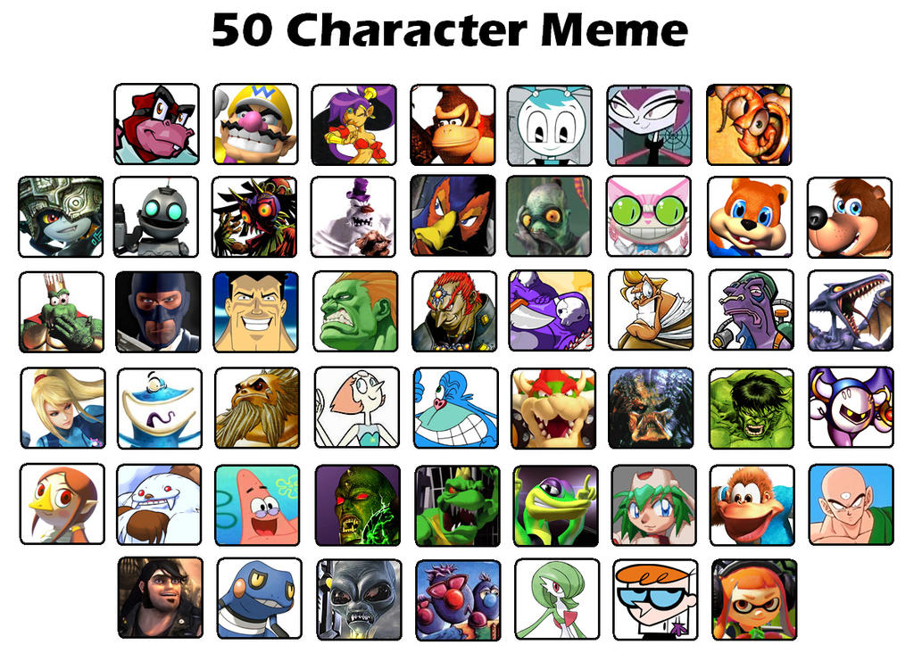 Tony's 50 Character Meme by gagaman92