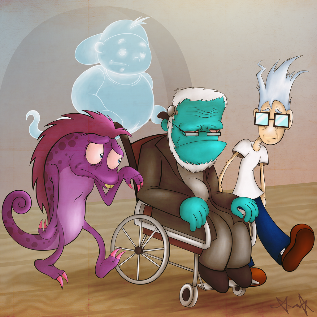 Elderly Puzzle Freaks by gagaman92