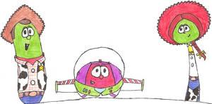 VeggieTales meets Toy Story