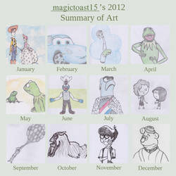 2012 Summary of Art by magictoast15