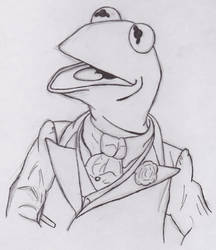 Kermit in a Tux by magictoast15