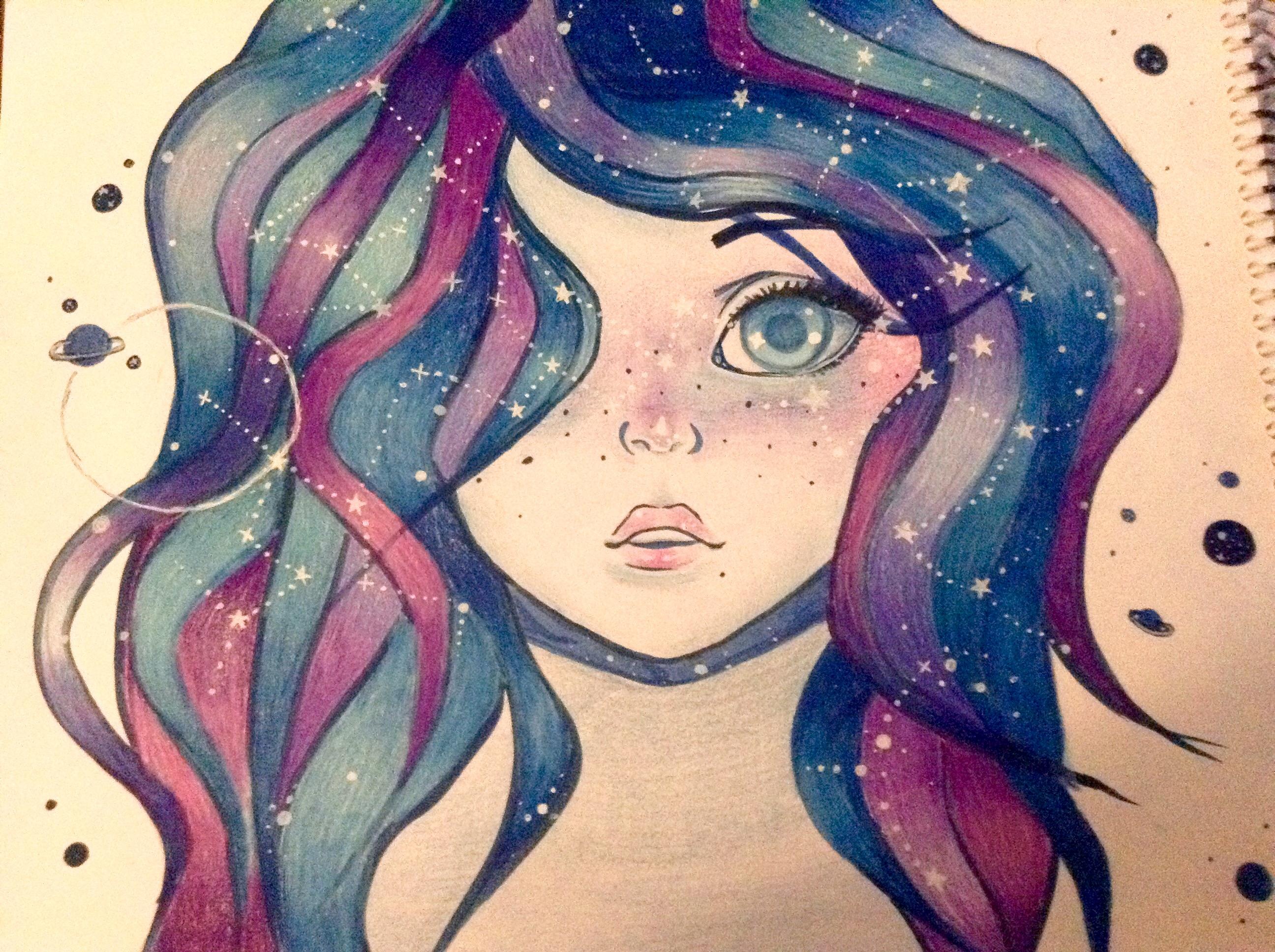 Anime Galaxy Girl by mpinz on DeviantArt