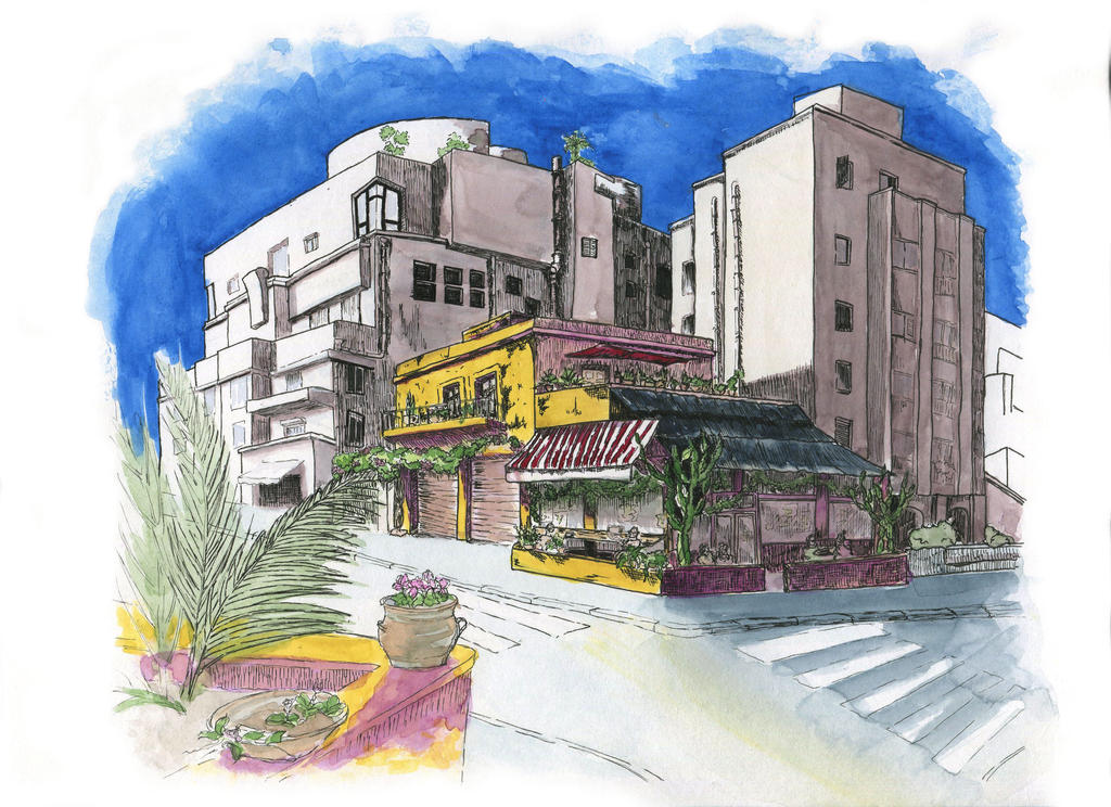 Tel-Aviv architecture by someowlsarenot