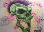 airbrushed punk skull