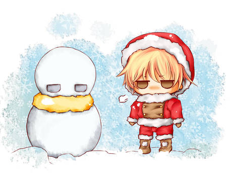 Came across a snowman...