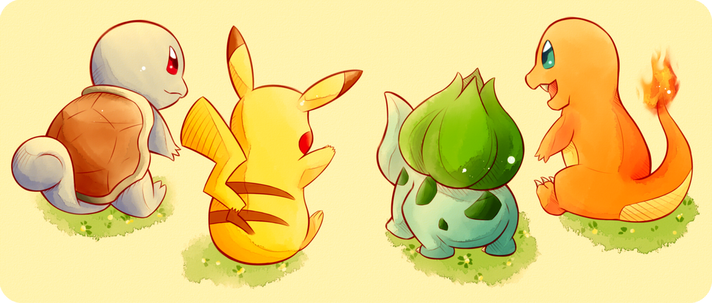 Pokemon | Kanto Starters by OroNoDa on DeviantArt