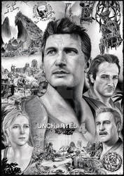 Uncharted 4 - drawn poster