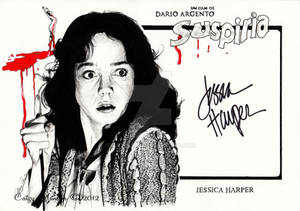 Suspiria, signed by Jessica Harper