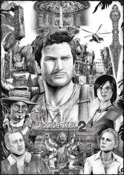 Uncharted 2 - drawn poster