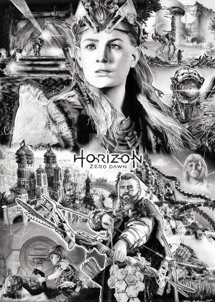 Horizon Zero Dawn drawn fanposter