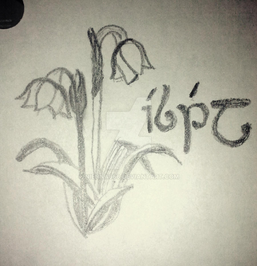 Snowdrop tattoo sketch by Nienna666