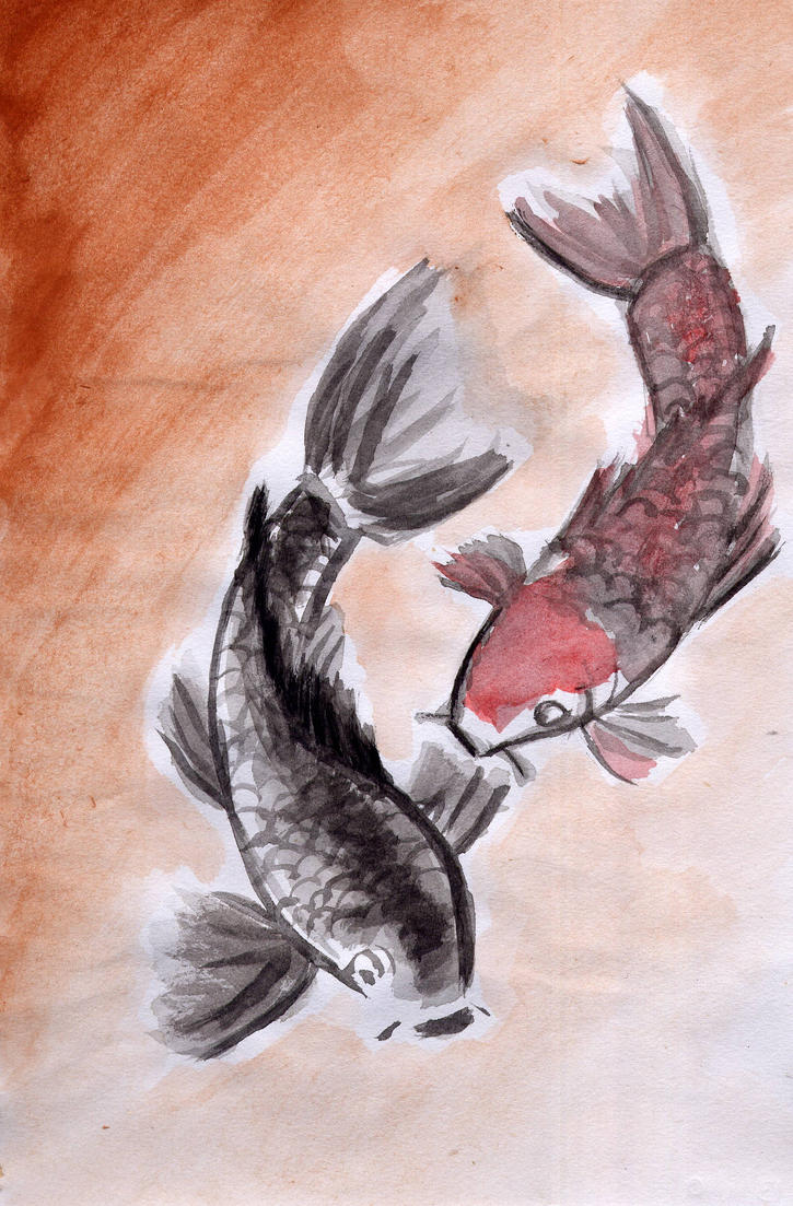 Watercolour koi fish by shinigamichick39 on deviantart for Small koi fish