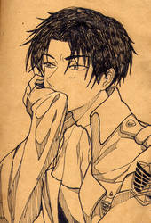 Rivaille- Dazed by Shinigamichick39
