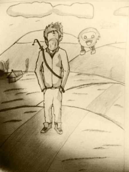 Sketch of Boredom by rozkie