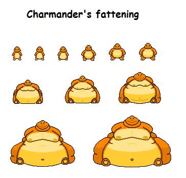 Charmander's fattening by Effra-Bulbizarre