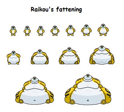Raikou Pixel Art Raikou s fattening by effra-Raikou Pixel Art