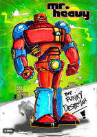 Mr. Heavy: The Funky Destroyah by Rob-Schrab