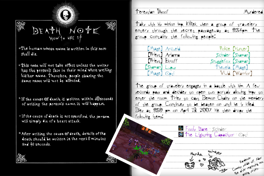 WoW Illhoof's Death Note by Metamor on DeviantArt
