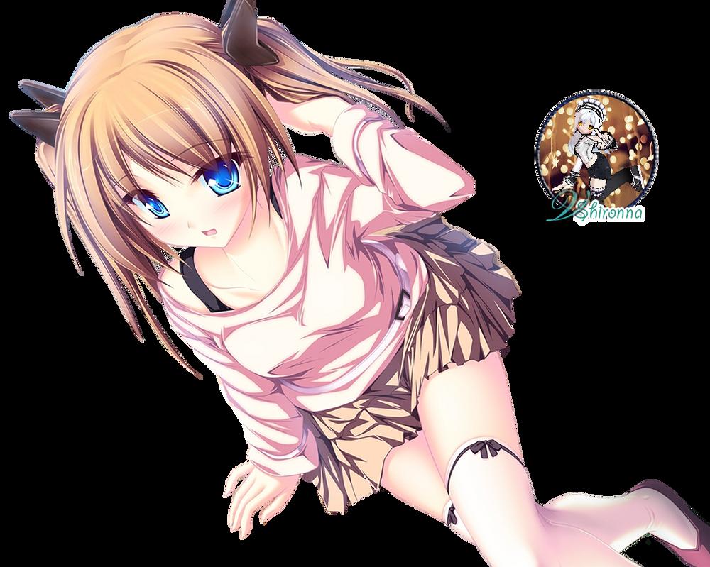 kawaii anime girl rendervshironna on deviantart