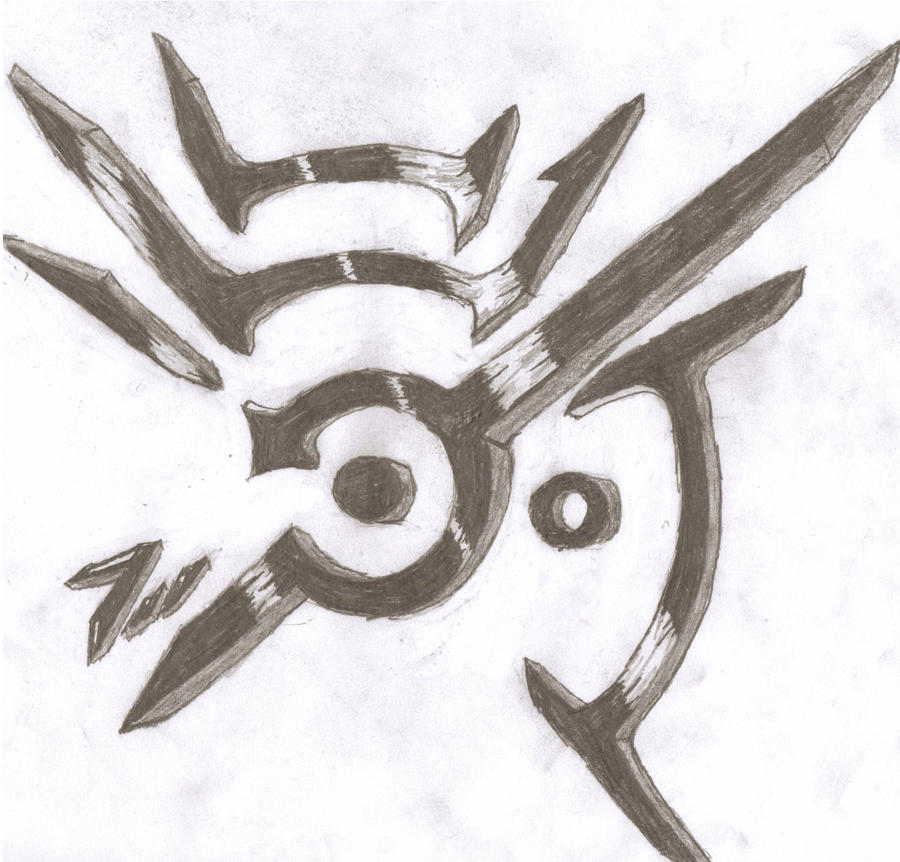 My own version drawing of the dishonored symbol by for Draw my own logo