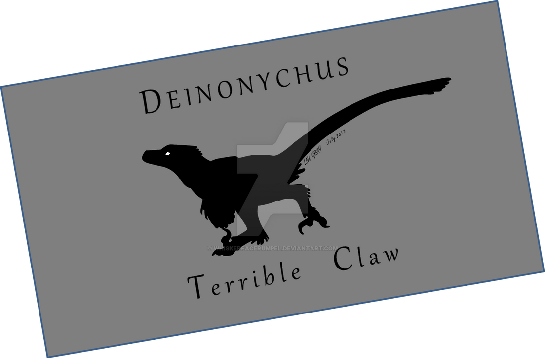 Deinonychus Terrible Claw by WhiskerfaceRumpel