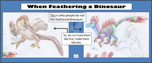 When Feathering a Dinosaur