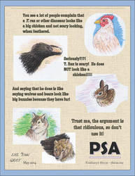 Feathered Dinosaurs are not Big Chickens!!!