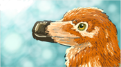Tiny Orange Raptor by Grays-raptor-flock
