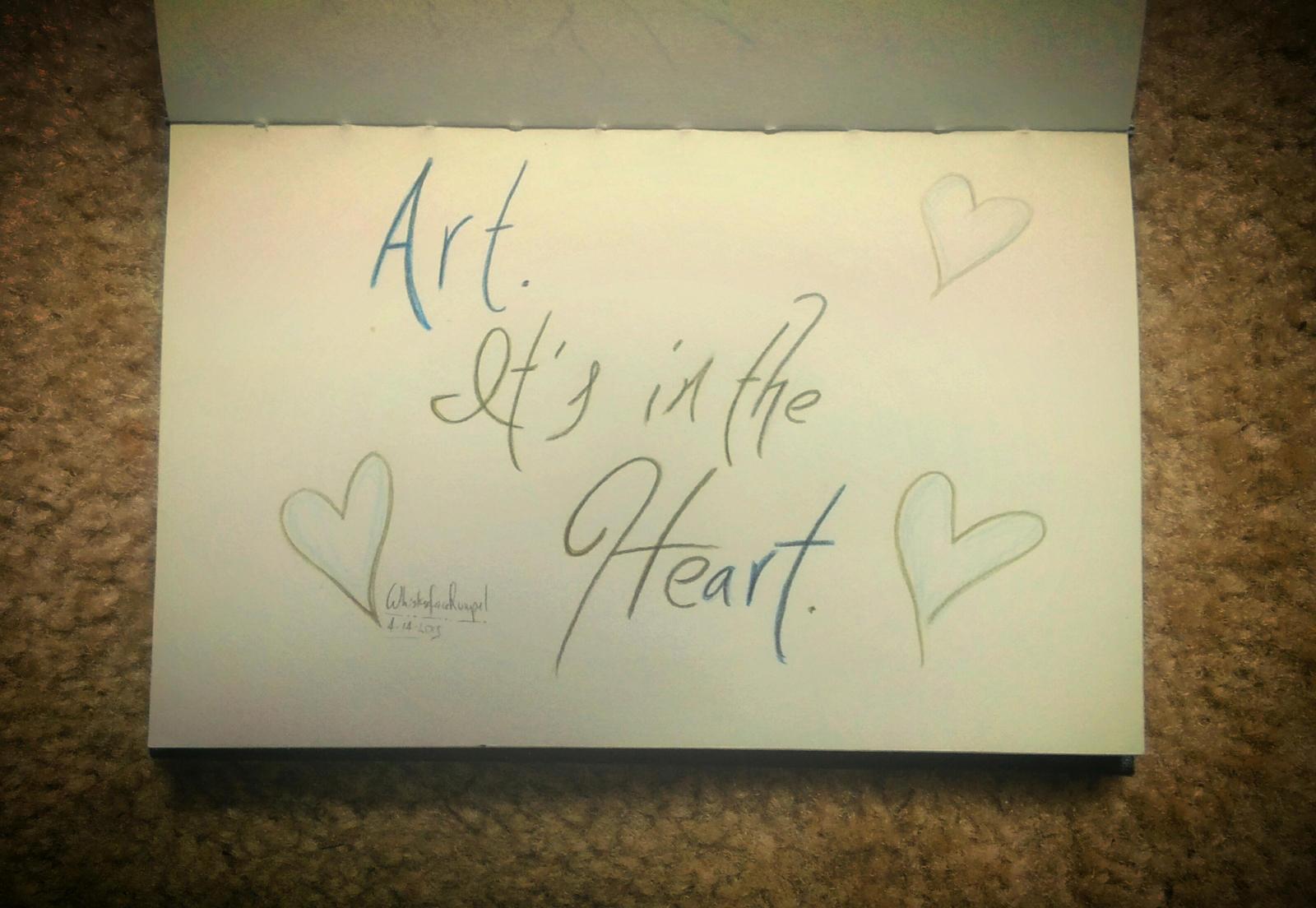 Art.  It's in the Heart.