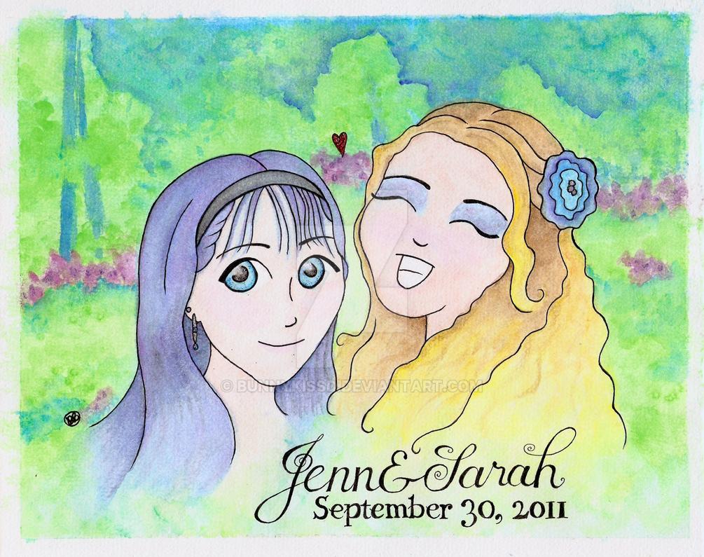 Jenn and Sarah by bunnykissd