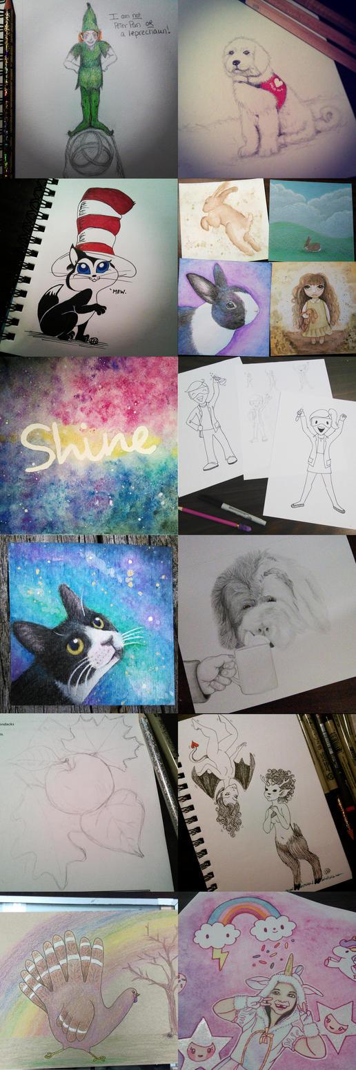 My art through 2015 by bunnykissd