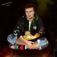 Jeune Pyromancien / Pyromancer boy by dikev