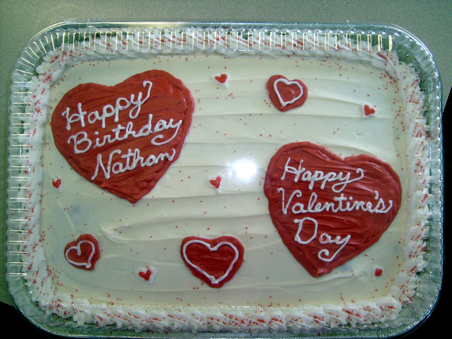 Valentine Birthday Cake By Mandyscandysncakes On Deviantart
