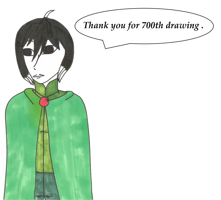 Thanks for 700th drawing ! by Jolsma