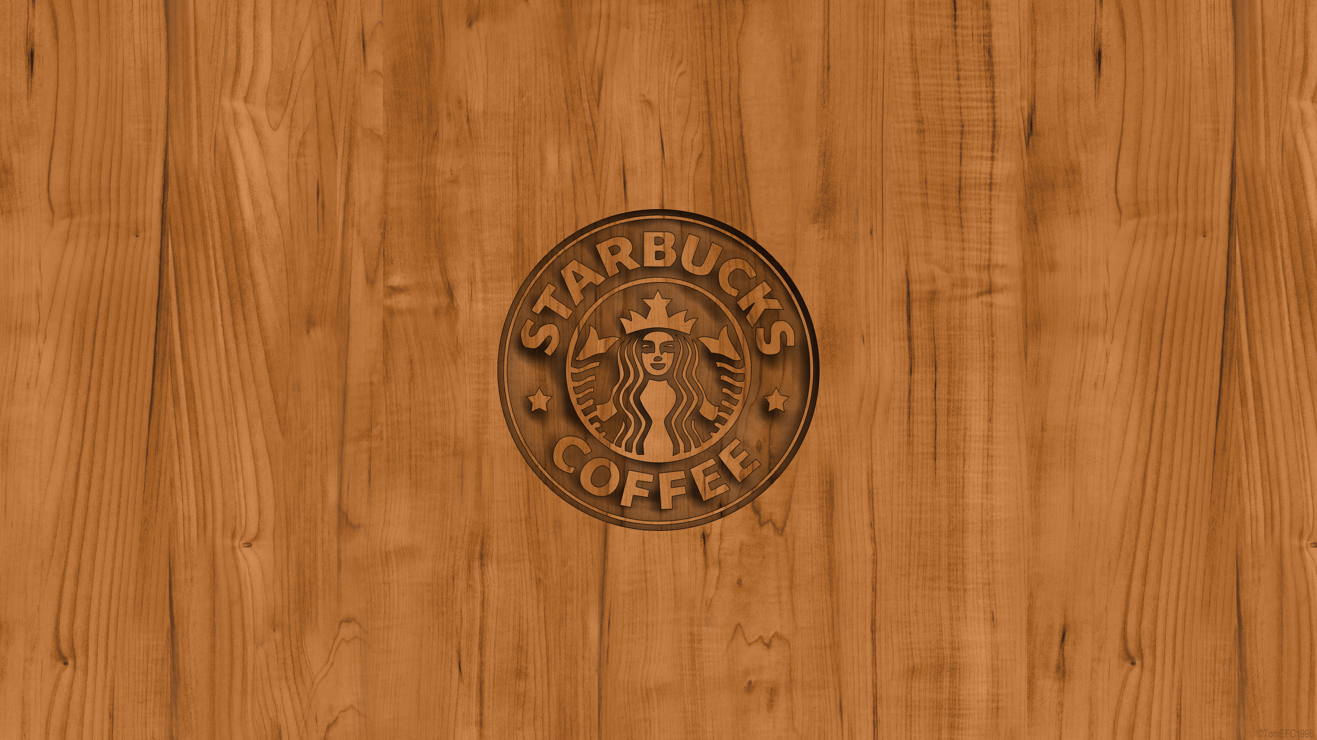 Starbucks Coffee Logo Wood Wallpaper by TomEFC98 on DeviantArt