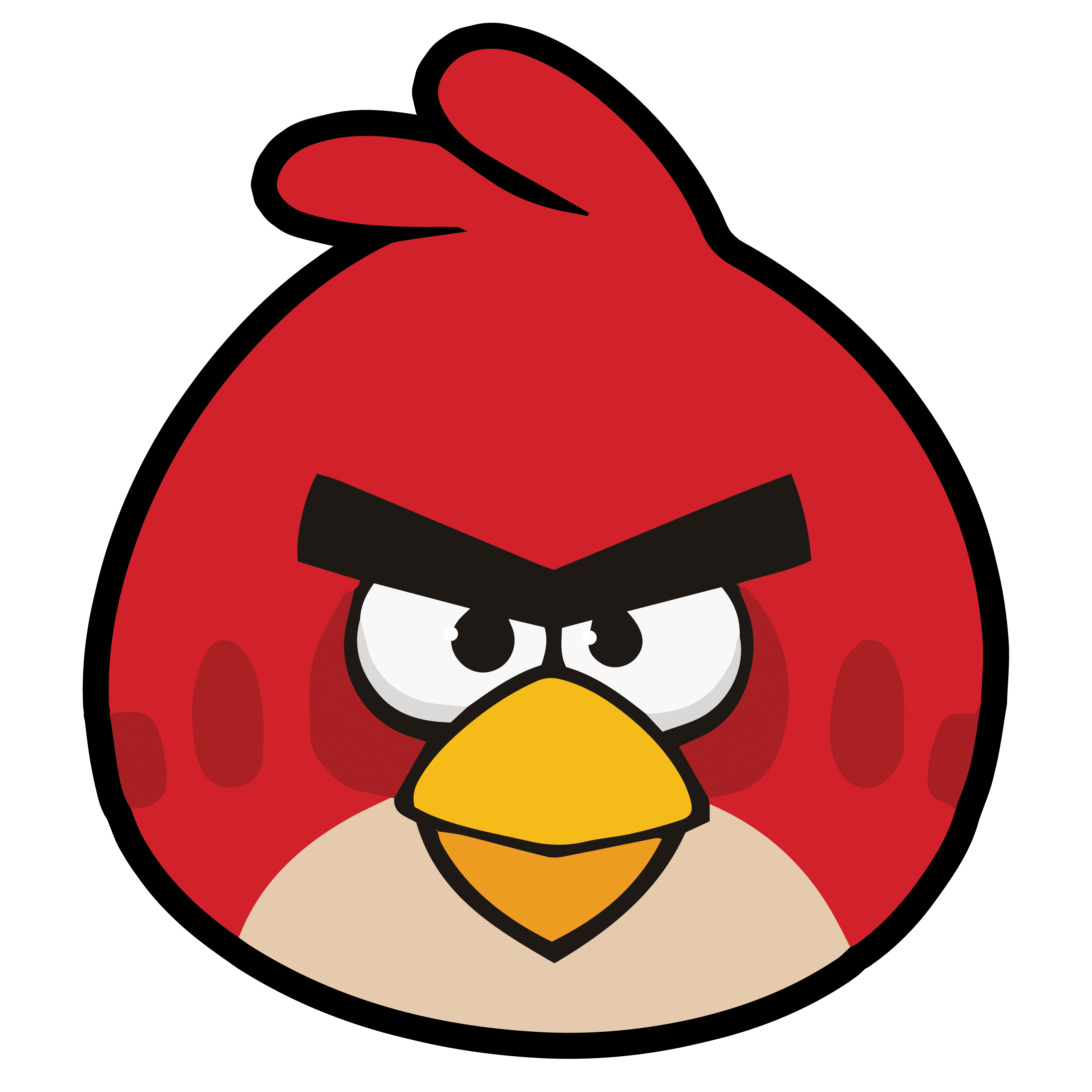 angry birds red super high quality by tomefc98 on deviantart. Black Bedroom Furniture Sets. Home Design Ideas