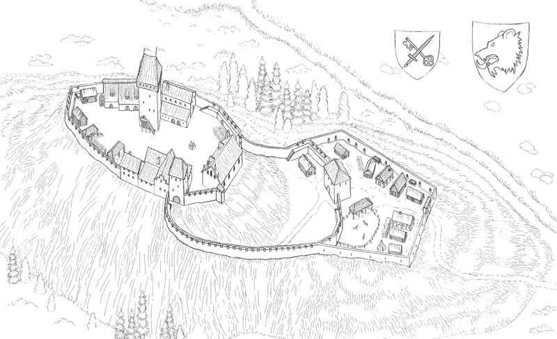 Otepaa piiskopilinnus, ver 0.5 (uncolored) by kalaadrius