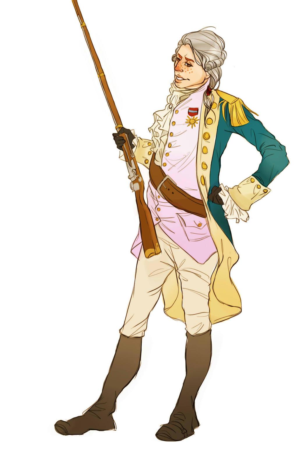Marquis de Lafayette--Wanna see my bayonet? by NiccoloMachiavel