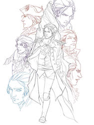 The Founders-- line art