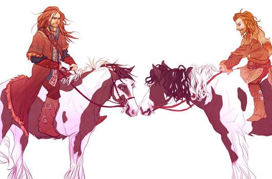 Kili and Fili- Pony Duty