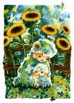 Sheep and Sunflowers (No. 1)