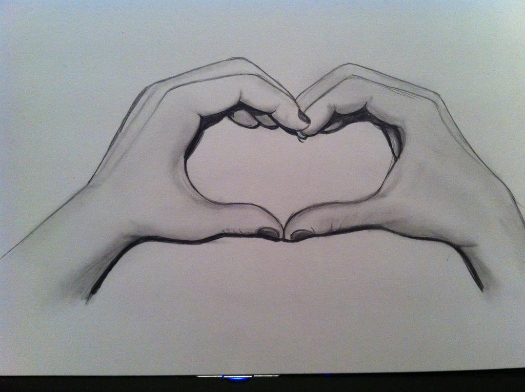 Love heart hands by kitahorrocks art