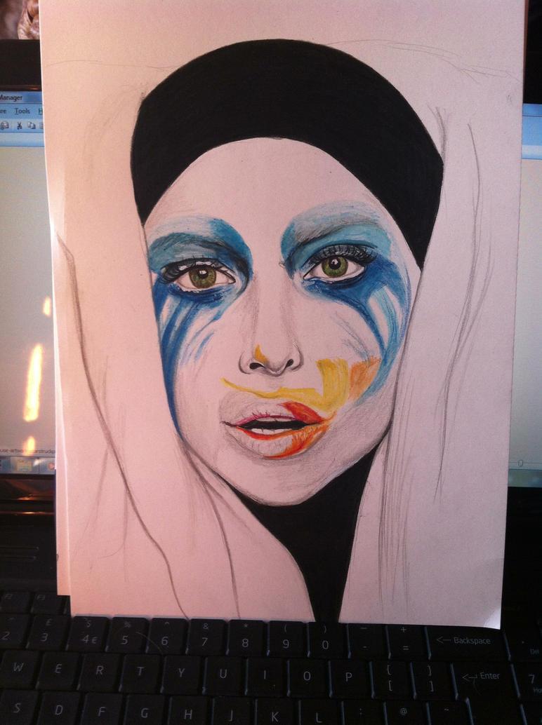 Lady Gaga Applause Album Art Drawing by KitaHorrocks-art ...