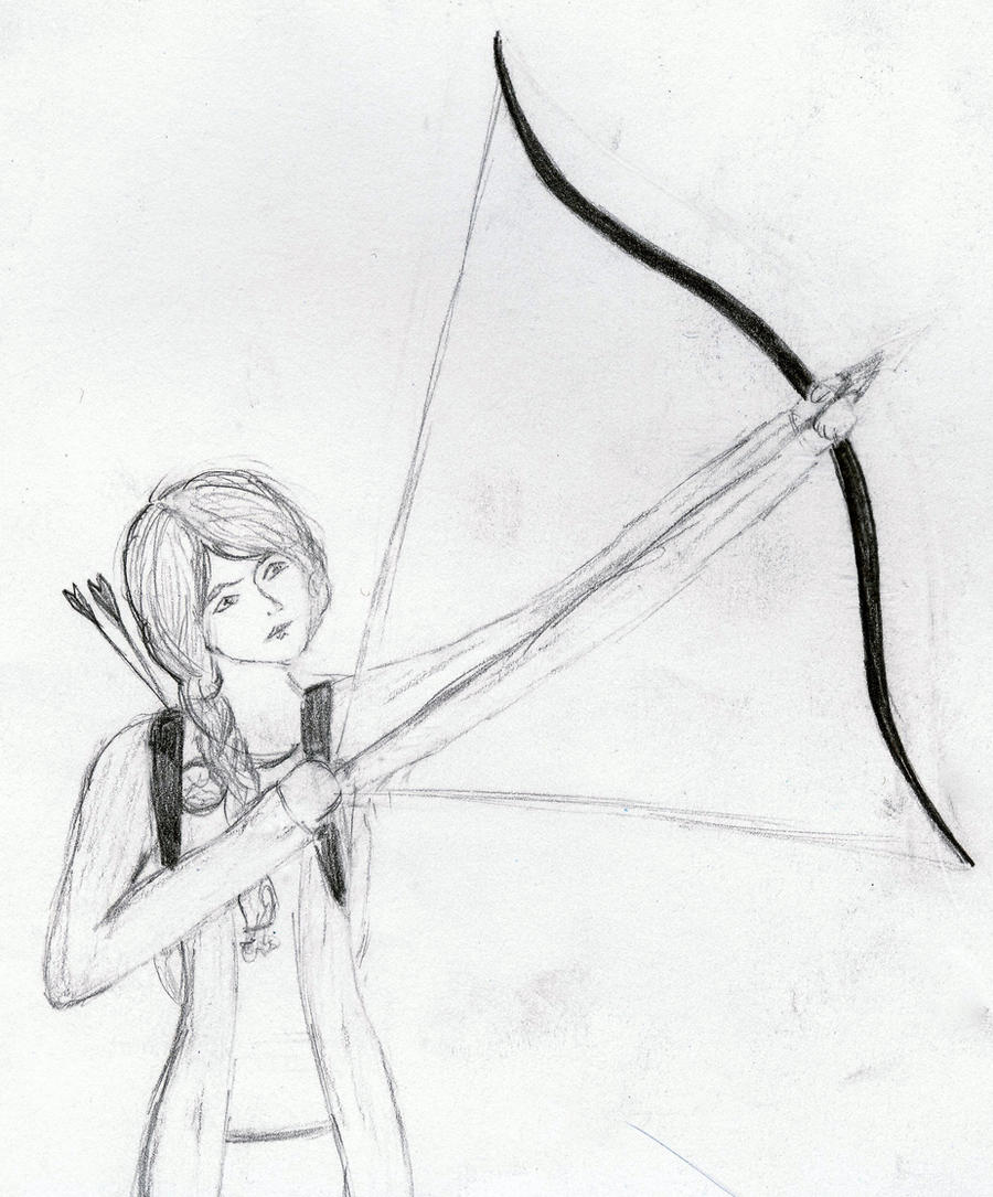 Hunting bow and arrow drawings