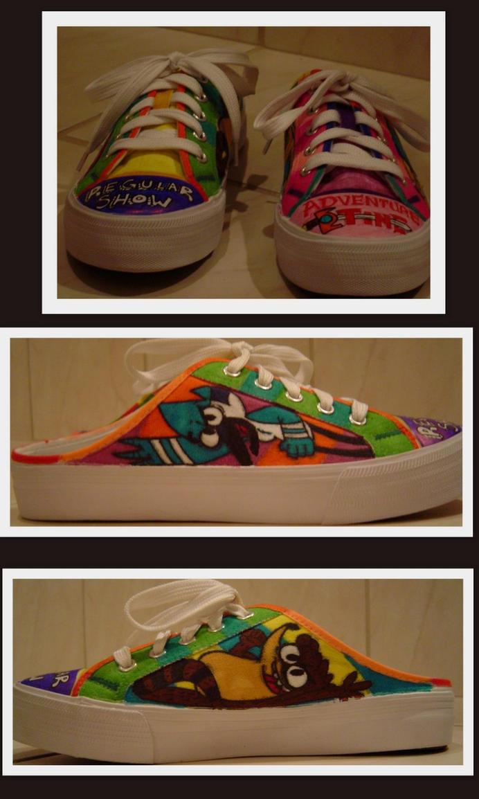 Regular Show Shoe by SharpieSam