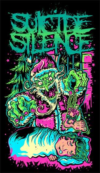 Suicide Silence Santa Shirt by RavenGC